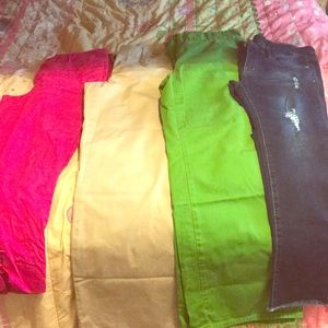 BUNDLE OF CHINO PANTS AND JEGGINGS SZ 8 and 7!!!